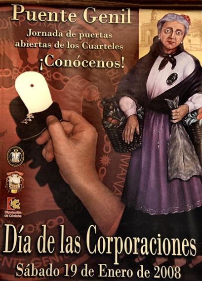"""Cartel de 2008 en el que aparece la Vieja Cuaresmera y el detalle de una de sus """"patas"""""""
